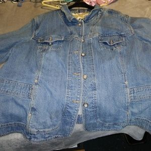 Jean Jacket Coat Plus Size